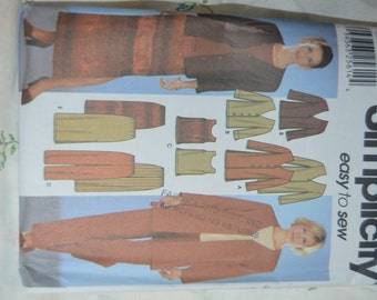 Simplicity 7099 Misses Jacket in two lengths, top pants, and skirt Sewing Pattern  UNCUT Size 8  - 14
