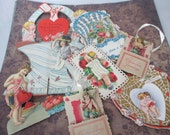 Vintage Valentines day cards 7 pieces lot E