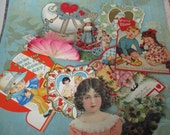 Vintage Valentines day cards 9 pieces lot I