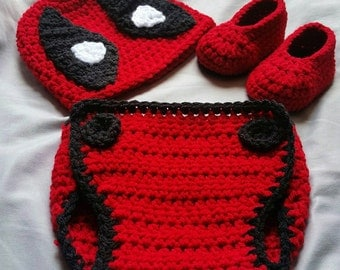 Crochet Deadpool Costume