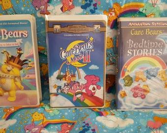 Lot of 3 Vintage Care Bears VHS Tapes