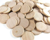 1.5 Inch Smooth Unfinished Wood Circles Coins Discs Round Cutouts Ornament Craft Dreidel Game Buttons Magnets DIY Gift Tag Wrap Cards Pins