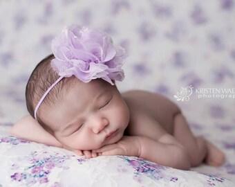 FREE SHIPPING! Lavender Headband, Lavender Newborn Headband, Lavender Baby Headband, Lavender Headbands, Newborn Headbands, Baby Headbands