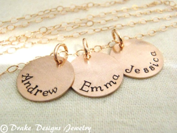 Gold custom name necklace mom 14k gold filled personalized jewelry