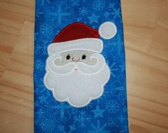 Christmas Faces 06 Santa Claus Applique Design