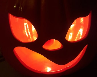 Halloween Pumpkin Jack o Lantern, ceramic decor