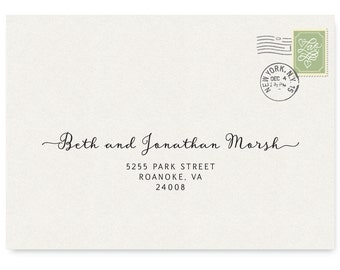 Envelope Template Non Editable,  Printable Address Template, Custom Calligraphy Recipient Addressing, Envelope Label PDF, Digital Design 219