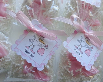 10 Stork Favors, 20 Soaps, Party Soap Favors, Showers, Babies, Special Occasions