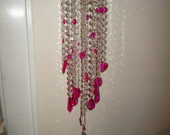 Crystal wind chime with swarovski crystal