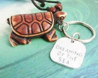 Eyeglass Lanyard, Keychain Necklace, Beach Lanyard, Turtle Lanyard, Surfer Lanyard, Quote Lanyard