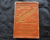 Rare Antique Lenormand Fortune Telling Cards Full Deck 1920 With Case RESERVED For Luna