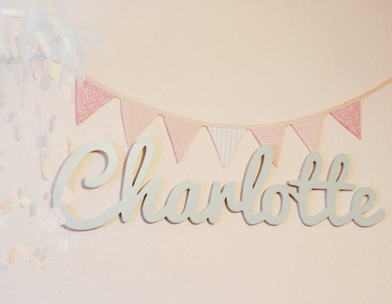 Nursery Decor Hanging Wall Letters : Wooden name sign names letters for nursery
