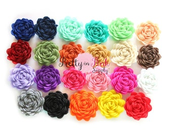 "1"" Mini Felt Flowers- You Choose Quantity- Diy Headband Supplies- Flower- Wholesale- Supply Shop"
