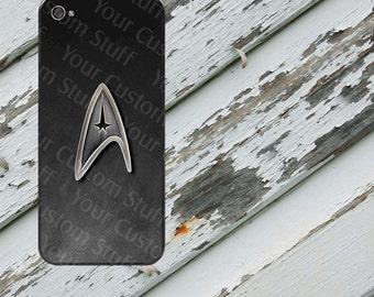 Star Trek Starfleet Insignia Inspired Design on iPhone 5/5s/5c/6/6 Plus/7/7 Plus/8/8 Plus Rubber Silicone Case