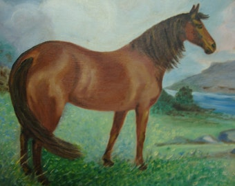 Large Horse Painting 16 x 20