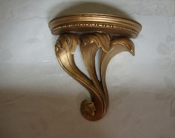 Gold Acanthus Leaves Shelf