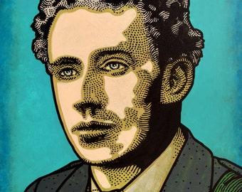 Thomas MacDonagh. Irish Revolutionary. Executed 1916. by Jim FitzPatrick. Easter Rising, Easter1916, 1916 Rising, Irish, Ireland