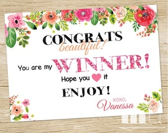 Free Product Winner Card Coupon, Coupon, Consultant Giveaway Card, Lula Referral New Customer Coupon, Roe Voucher, PRINTABLE DIGITAL FILE