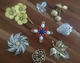 FREE SHIPPING - Sarah Coventry / Sarah Cov Brooches and Pins - Strawberry, Americana, Natures Choice and more