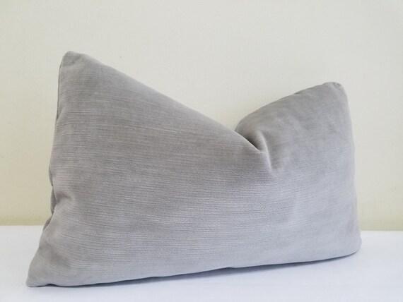 Gray Velvet Lumbar Pillow Cover J P Martin Velvet