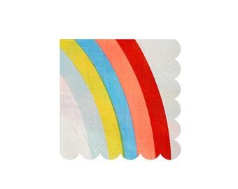 Rainbows and Unicorns Small Paper Napkins by Meri Meri, Party Supplies, Tableware