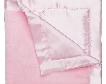 Elegant Baby Personalized  Baby Blankie in Light Pink  87633, makes a great gift