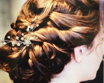 Athens Wedding Hair Comb, Wedding Hair Pin, Pearl and Crystal Hair Comb, Wedding Hair Accessories, Wedding Headpiece, Bridal Hair Pin
