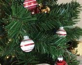 Christmas Ornament Earrings - Stripes