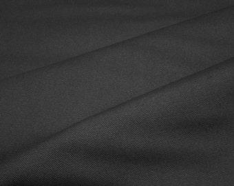 9.3 oz Canvas Duck Black, Medium/Heavyweight, James Thompson & Co. Inc., 60 inch width, 1 yard