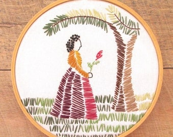 Folk Art Tapestry PDF Embroidery Hoop Art Pattern - Hand Embroidery