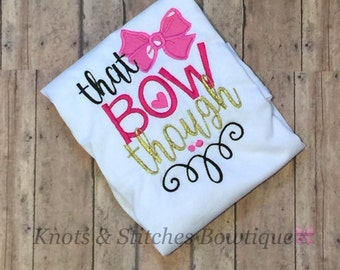 Embroidered That Bow Though Shirt