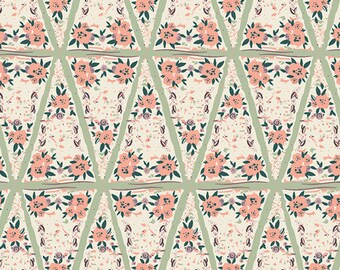 Organic Baby Bedding Crib Bedding - Floral Mint Peach