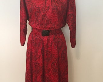 Vintage 80s Dress by Carriage Court USA