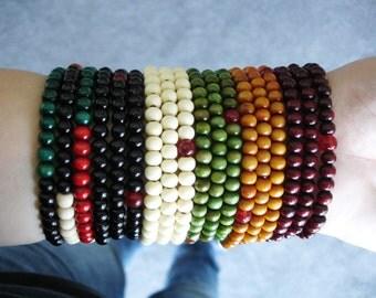 Wood Bracelet, Mala Beads, Mala Bracelet, 108 Mala, Beaded Bracelet, Buddhist Bracelet, Stacked Wood Bracelet, Gift Ideas, Birthday Gift