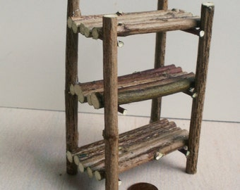 Fairy shelf, Bookshelf medium, dollhouse miniature 1/12
