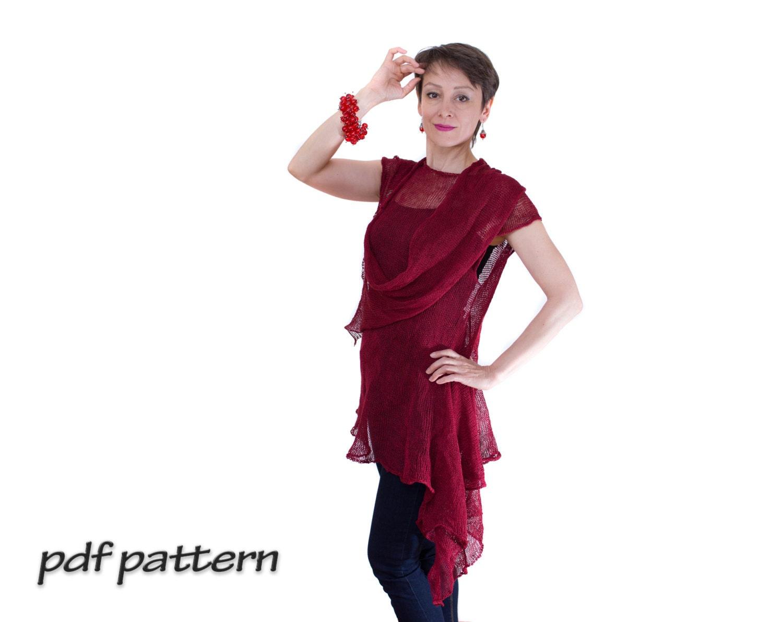 Knitting Summer Tunic : Knitting pattern for women tunic beginner