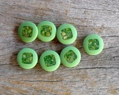 Green Buttons , Sparkly Green Buttons , 16 mm  Buttons  , Sewing And Needlecraft Supplies