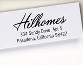 Self-Inking Address Stamp, Return Address Stamp, Wood Mounted Address Stamp, Envelope Stamp, Wedding Personalized Stamp, Custom Stamp (S6)