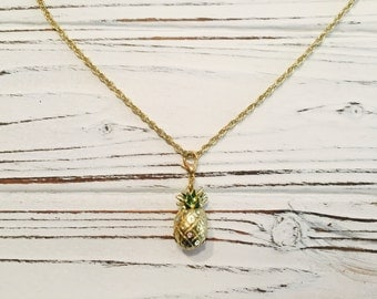Gold Pineapple Dainty Chain Necklace Gift Ideas Pineapple Necklace