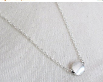 SALE Silver Coin Necklace - Everyday Necklace - Coin Necklace -  Dainty Necklace - Simple Necklace - Charm Necklace - Gift Necklace