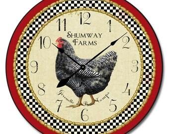 Little Black Hen Wall Clock