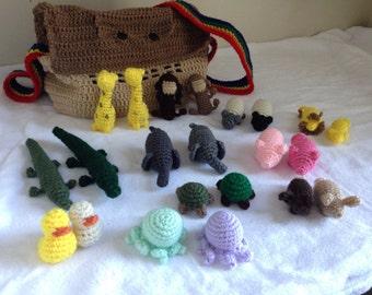 Noah's Ark Crochet Playset w/ Carry Bag