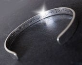 Personalised Bangle with Message, Personalised Bangle with Names, Valentines Bangle, Song Lyrics Bangle, Childrens Names Bangle, Silver