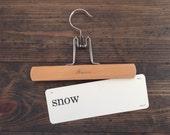 vintage flash card • snow | Dick and Jane flashcard