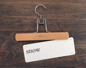 vintage flash card • snow | Dick and Jane flashcard