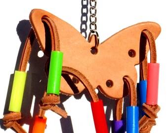 985 Butterfly Beauty Leather Bird Toy