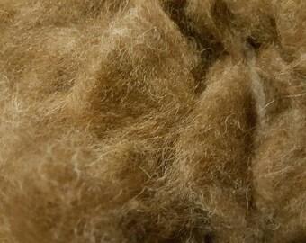 Huacaya and suri alpaca Shetland wool brunette roving