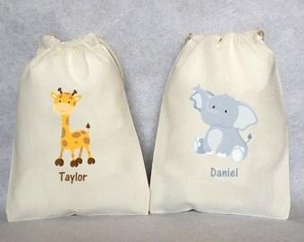 "20 jungle party, Safari, Safari party, Safari party bags, Zoo party, Lion, Zebra, Giraffe, Tiger, Elephant, Safari party favor bags 5"" by 7"""
