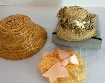 Vintage Group  of 3 Doll Hats