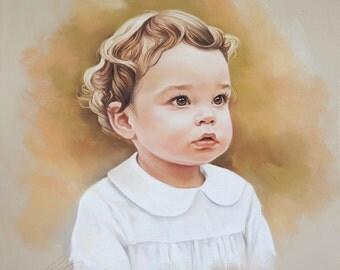 Pastel portrait of a baby boy